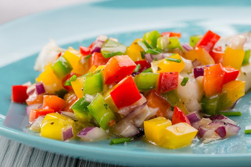 fruit and vegetables salad