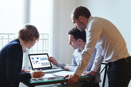 People working together in the office
