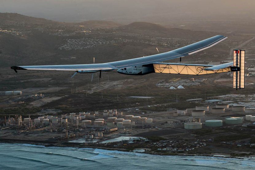 Solar Impulse from takeoff from Hawaii