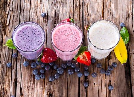 Mixed-fruit smoothies