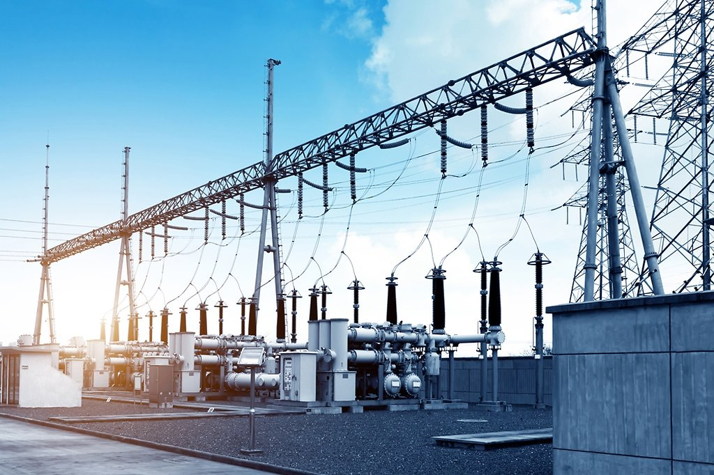 High-voltage-power-substation