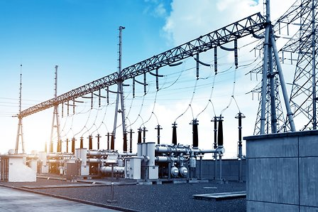 High-voltage-power-substation