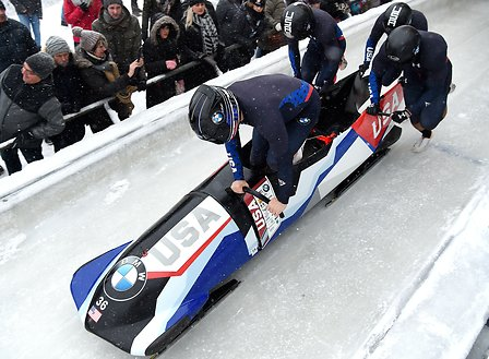 Four-man bobsled team