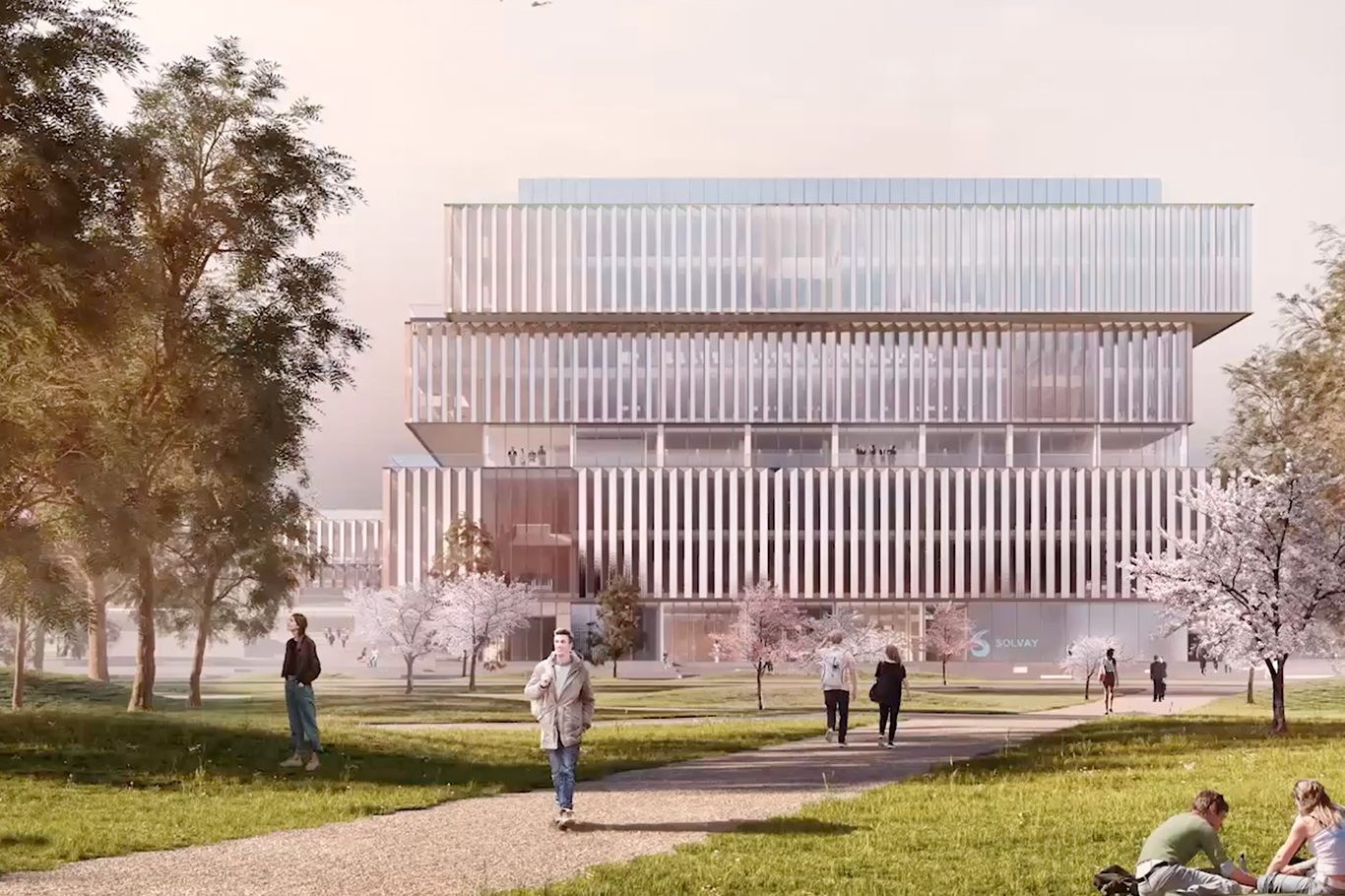 Solvay new headquarters project by Schmidt Hammer Lassen Architects
