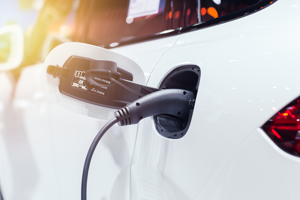 power-charging-of-white-modern-electric-car