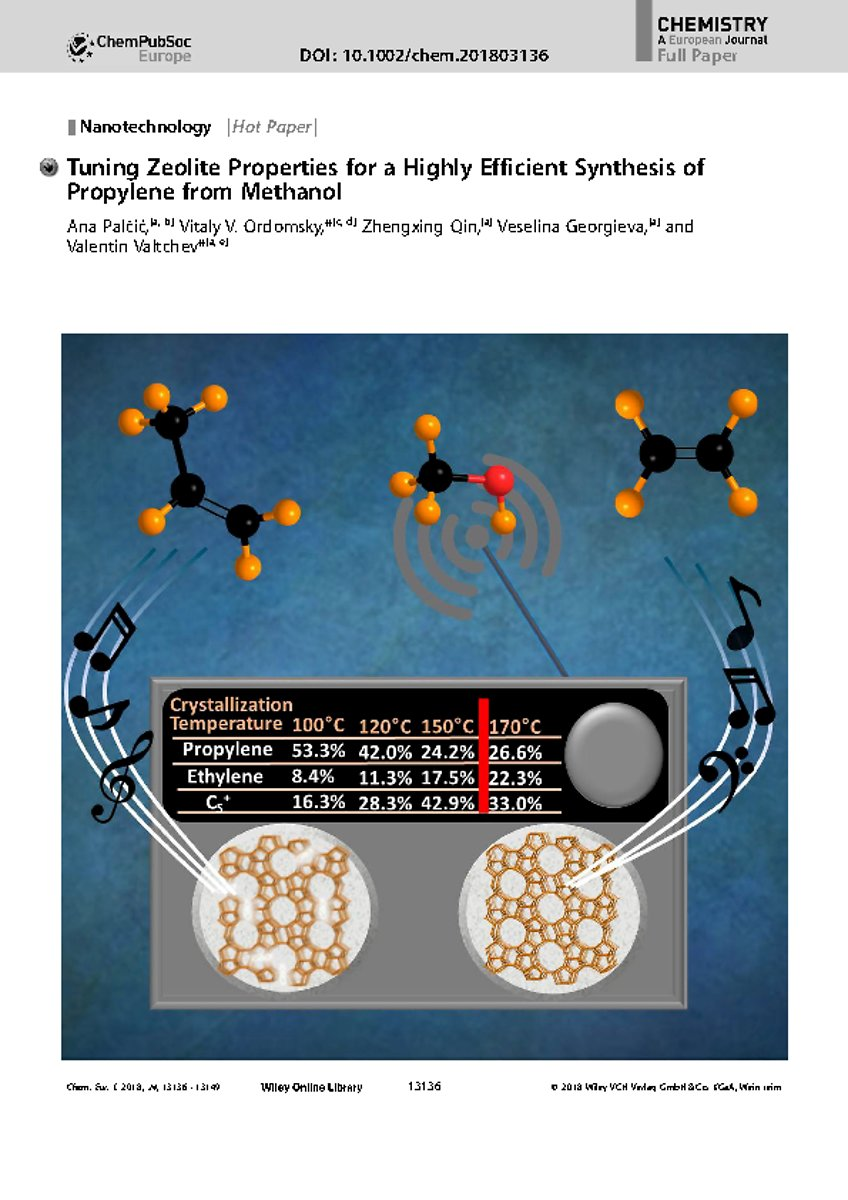 Frontispiece: Tuning Zeolite Properties for a Highly Efficient Synthesis of Propylene from Methanol