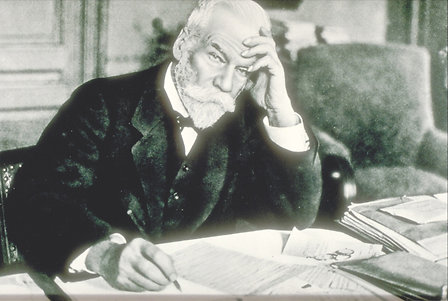 Ernest Solvay portrait, in his Brussels office