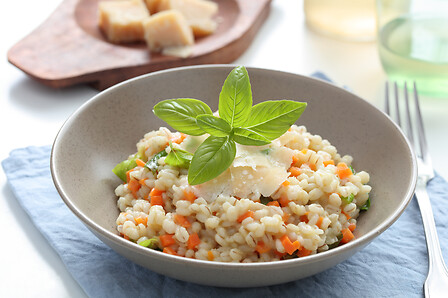 Farro risotto spelled