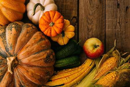 Pumpkins and vegetables - Cibi