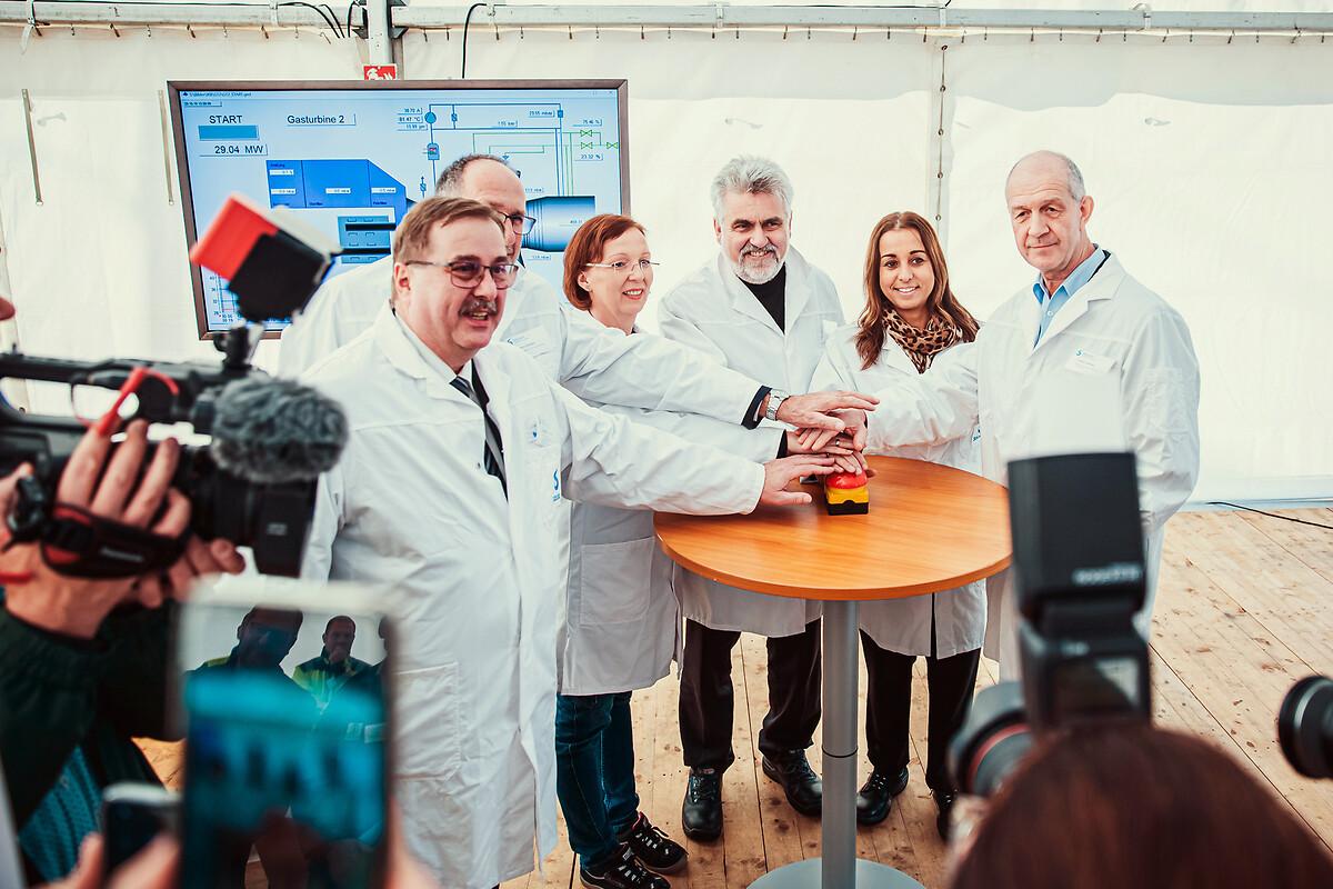 Inbetriebnahme der neuen Gasturbine in Bernburg