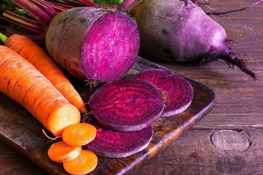 coloured vegetables